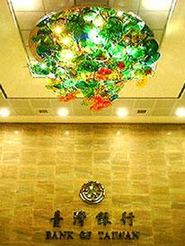 台灣銀行圓山分行的天花板