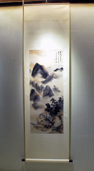 圖片1: 朱家山水中堂 (作品照片共1張)