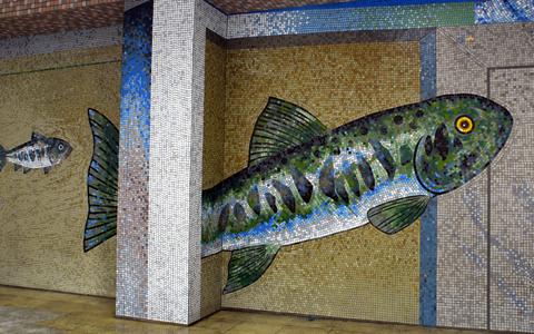 圖片1: 鱗鱗波光-悠游的魚 (作品照片共6張)