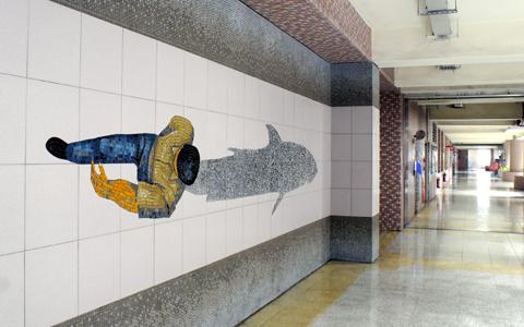 圖片1: 鱗鱗波光-人、魚 (作品照片共3張)