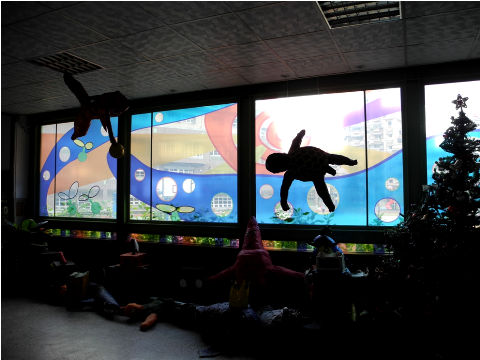圖片3: A案:「校門公共空間」-成長之歌.童言童語 - 玻璃圖案設計 Song of Growing Up - Glass Pattern Design